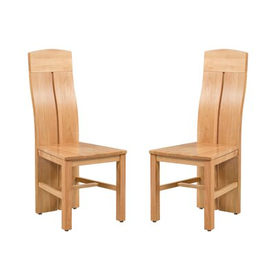 Kiazolu Solid Wood Dining Chair Color: Natural Oak
