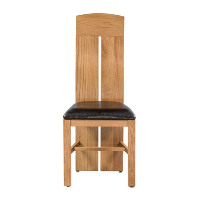Kiazolu Upholstered Dining Chair Frame Color: Light Dark Oak