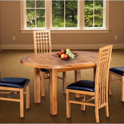 Myres Oval Extendable Dining Table Color: Light Dark Oak