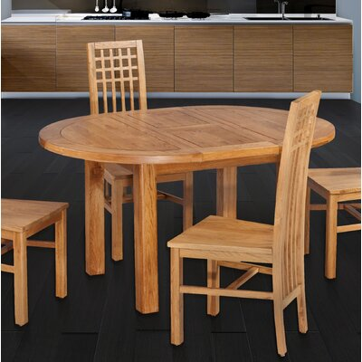 Myres Oval Extendable Dining Table Color: Natural Oak