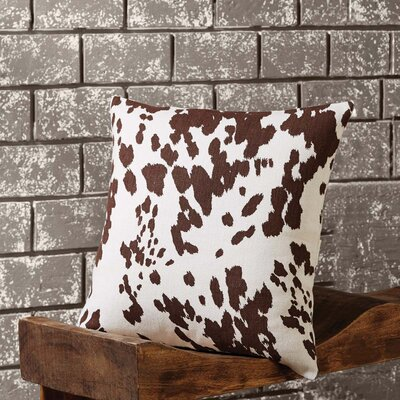 Donneville Cowhide 100% Cotton Throw Pillow