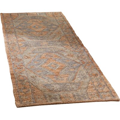 Travis Hand Woven Slate Area Rug Rug Size: Runner 26 x 8