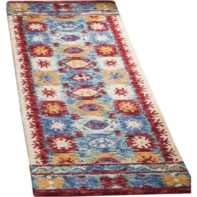 Bobigny Hand-Tufted Blue Area Rug Rug Size: Runner 23 x 7