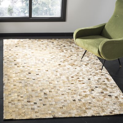 Atchley Hand Tufted Ivory Area Rug Rug Size: Rectangle 8 x 10