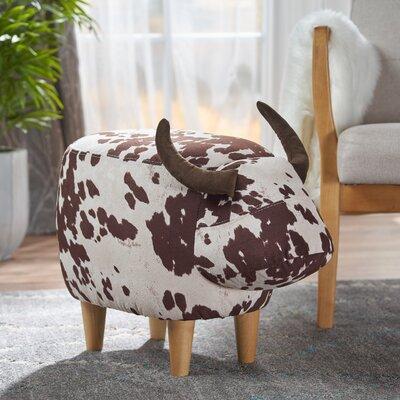 Albarado Cow Ottoman Upholstery: Brown