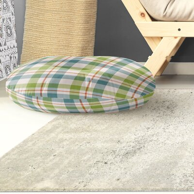 Warner Plaid Indoor/Outdoor Floor Pillow Size: 26 H x 26 W x 8 D