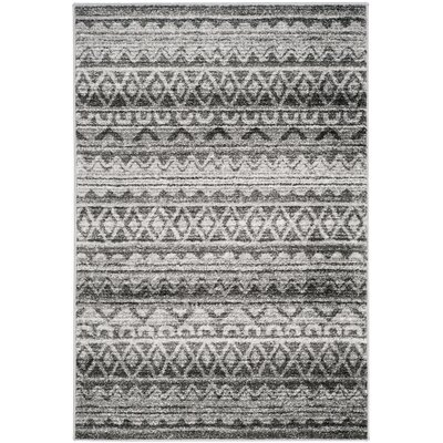 St. Ann Highlands Ivory/Charcoal Area Rug Rug Size: Rectangle 4 x 6