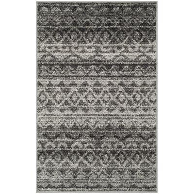 St. Ann Highlands Ivory/Charcoal Area Rug Rug Size: Rectangle 26 x 4