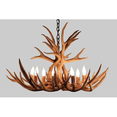 Alexandrine Mule Deer 8-Light Candle-Style Chandelier Finish: Natural