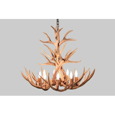 Alonso Mule Deer 8-Light Candle-Style Chandelier