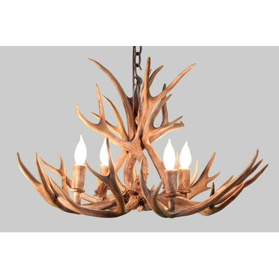 Alvie Mule Deer 4-Light Candle-Style Chandelier