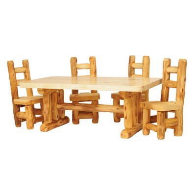 Hilary 5 Piece Dining Set Color: Beeswax/Linseed Oil