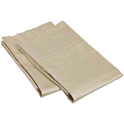 Reece 300 Thread Count  Pillowcase Set Size: King, Color: Tan