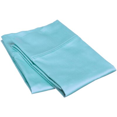 Reece 300 Thread Count  Pillowcase Set Size: King, Color: Teal