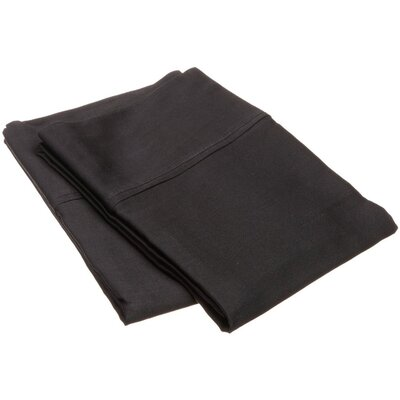 Reece 300 Thread Count  Pillowcase Set Size: Standard, Color: Black
