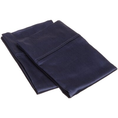 Reece 300 Thread Count  Pillowcase Set Size: Standard, Color: Navy Blue