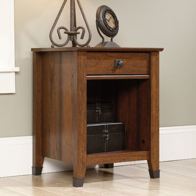 Newdale 1 Drawer Nightstand Color: Cherry