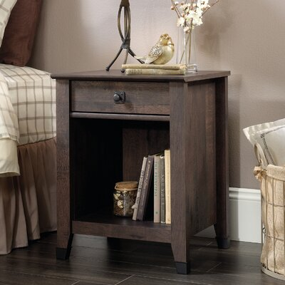 Newdale 1 Drawer Nightstand Color: Coffee Oak