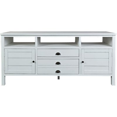 Arviso 70 TV Stand Color: Weathered White, Size: 70 W