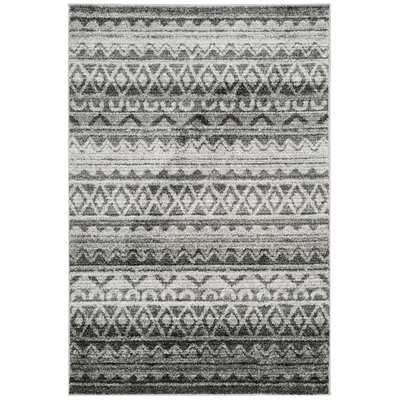 St. Ann Highlands Ivory/Charcoal Area Rug Rug Size: Rectangle 51 x 76