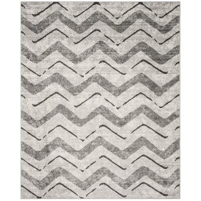 St. Ann Highlands Silver/Charcoal Area Rug Rug Size: Rectangle 8 x 10