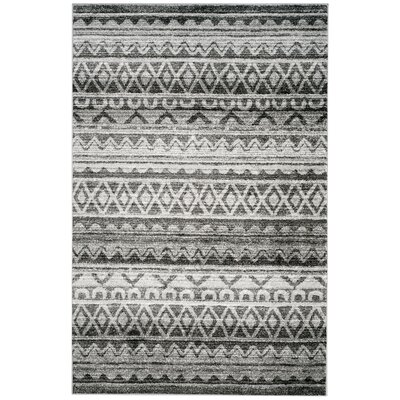 St. Ann Highlands Ivory/Charcoal Area Rug Rug Size: Rectangle 6 x 9