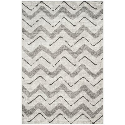 St. Ann Highlands Silver/Charcoal Area Rug Rug Size: Rectangle 6 x 9