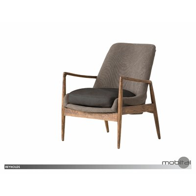 Wovenwood Armchair Upholstery: Gray Black