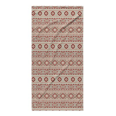 Cabarley Beach Towel Color: Red/ Tan/ Ivory