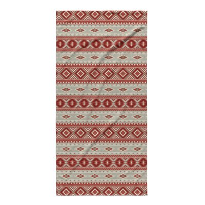 Cabarley Beach Towel Color: Red/ Tan