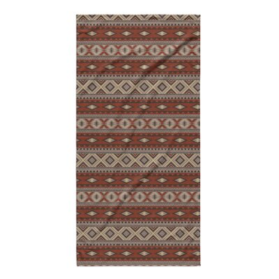 Cabarley Beach Towel Color: Red/ Grey