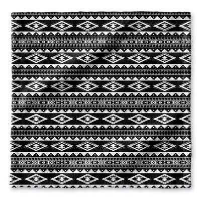 Fleur Wash Cloth Color: Black/ White