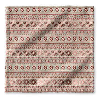 Cabarley Wash Cloth Color: Red/ Tan/ Ivory