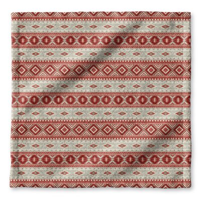 Cabarley Wash Cloth Color: Red/ Tan