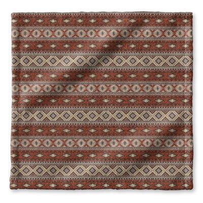 Cabarley Wash Cloth Color: Red/ Grey