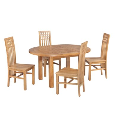 Uriah 5 Piece Extendable Dining Set Color: Natural Oak