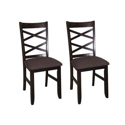 Mendota Side Chair (Set of 2) Finish: Espresso