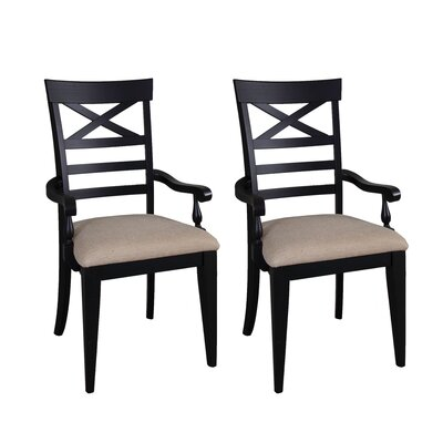Methuen Arm Chair (Set of 2) Finish: Black