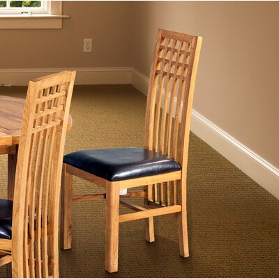 Koome Upholstered Dining Chair Frame Color: Golden Oak