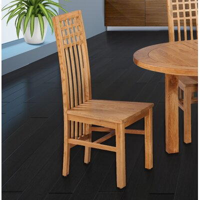 Koome Solid Wood Dining Chair Color: Natural Oak