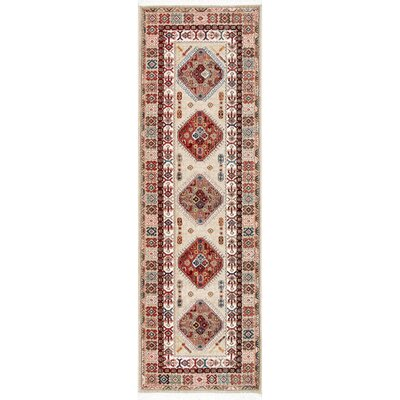 La Verne Light Beige/Red Area Rug Rug Size: Runner 28 x 8
