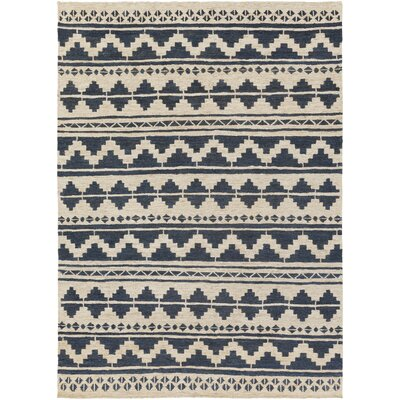 Columbia Hand-Woven Navy Area Rug Rug Size: Rectangle 8 x 11