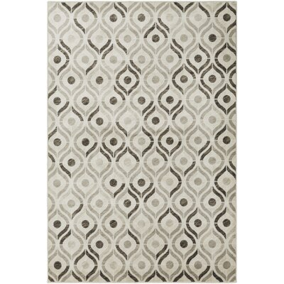 Caigan Dark Brown/Khaki Area Rug Rug Size: Rectangle 53 x 76