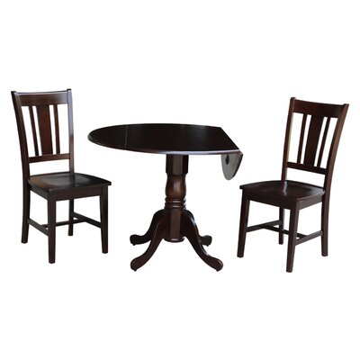 Cherokee 3 Piece Drop Leaf Dining Set Color: Rich Mocha
