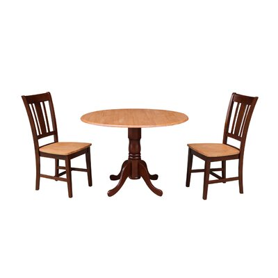 Cherokee 3 Piece Drop Leaf Dining Set Color: Cinnamon / Espresso