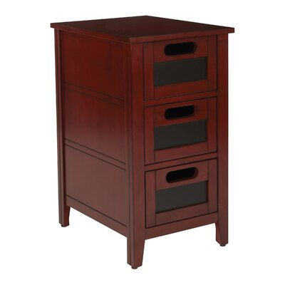 Framboise End Table With Storage Color: Vintage Wine