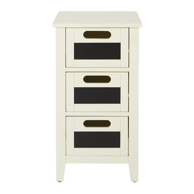 Framboise End Table With Storage Color: Cream