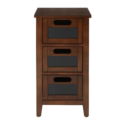 Framboise End Table With Storage Color: Rich Saddle