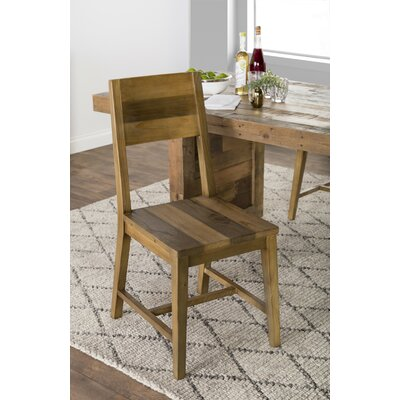 Needham Solid Wood Dining Chair (Set of 2) Color: Natural