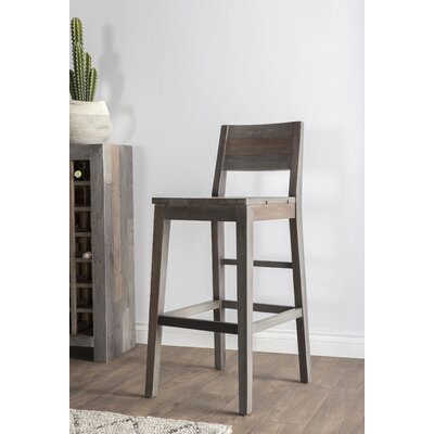 Needham 30 Bar Stool Color: Charcoal